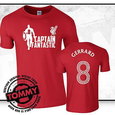 Liverpool FC Steven Gerrard T-Shirt, T-shirt Tommy, Liverpool FC tshirt Gerrard