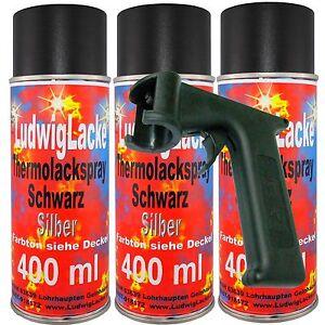 Auspufflack 3 Spray 400ml Hitzebeständiger Autolack Schwarz bis650'&Haltegriff - Flörsbachtal, Deutschland - Auspufflack 3 Spray 400ml Hitzebeständiger Autolack Schwarz bis650'&Haltegriff - Flörsbachtal, Deutschland