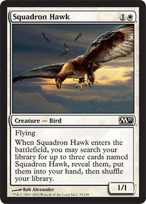 4x Squadron Hawk Light Play English Magic 2011 MTG Magic