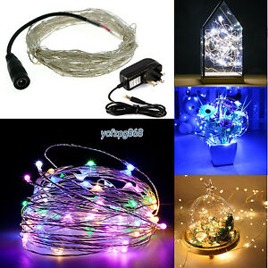 Image Is Loading 33ft 98ft Rice LEDs Mini Copper Wire Fairy