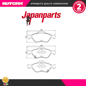 PA238AF-Kit-pastiglie-freno-a-disco-ant-Toyota-Yaris-05-gt-MARCA-JAPANPARTS