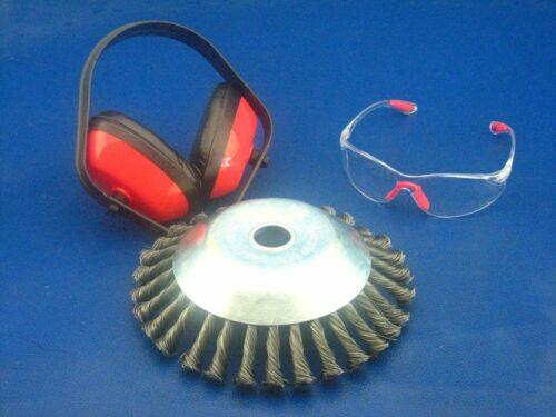 Unkrautbürste Schutzbrille und Gehörschutz für Scheppach BCH2600-100P Motorsense