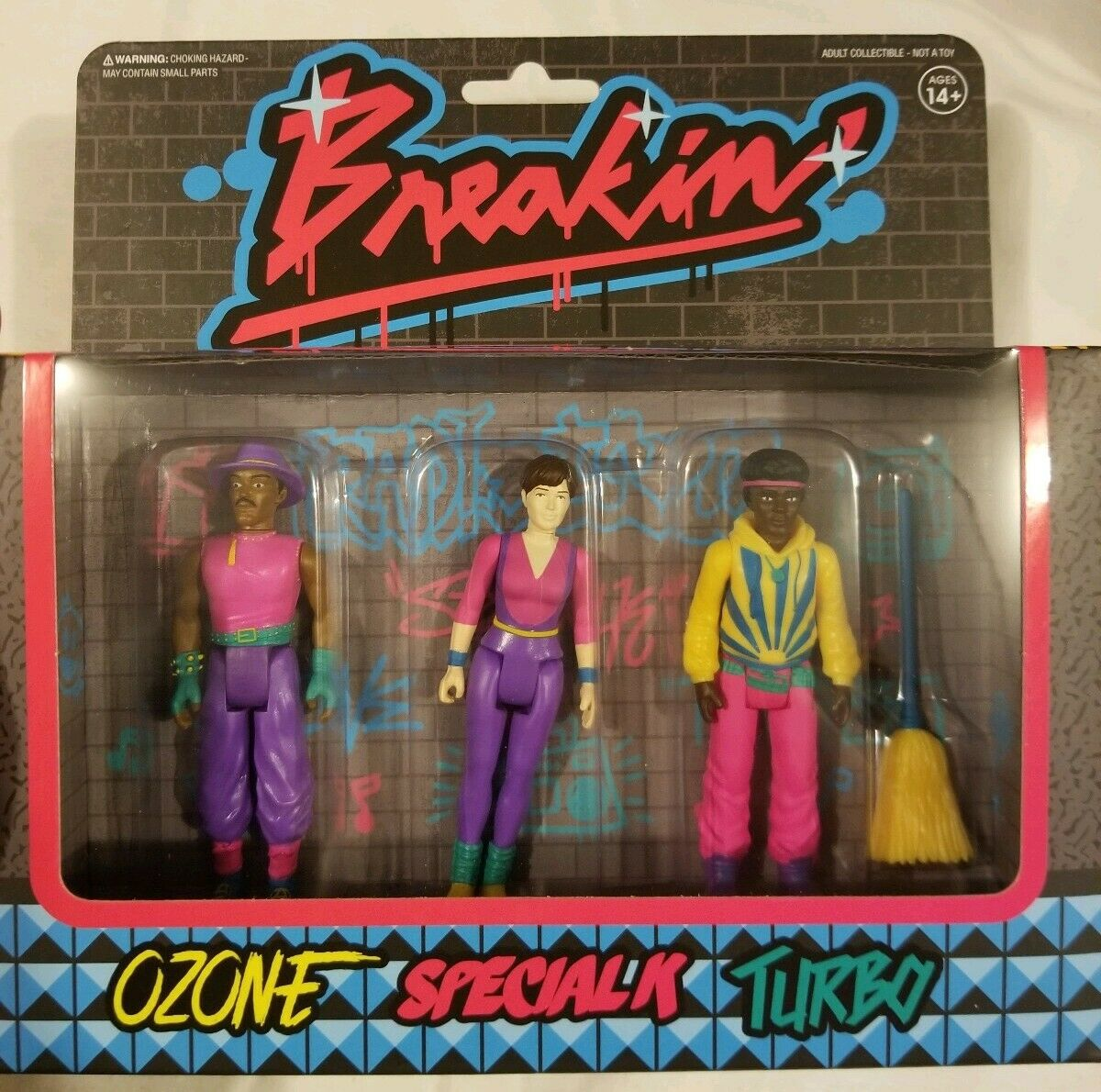 Breakin' Super7 SDCC 50 2019 Reaction Exclusive Break Dance Hip Hop 3 Pack Set