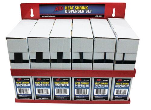 ATD Heat Shrink Tubing Dispenser Set// Assortment w// Steel Mounting Rack #336