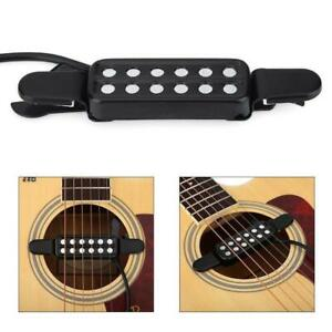12-Hole-Sound-Pickup-Microphone-Wire-Amplifier-Speaker-for-Acoustic-Guitar-neu