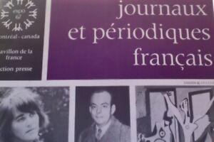 FRANCE-QUEBEC-EXPO-67-MONTREAL-PAVILLON-FRANCE-CATALOGUE-JOURNAUX-ET-PERIODI