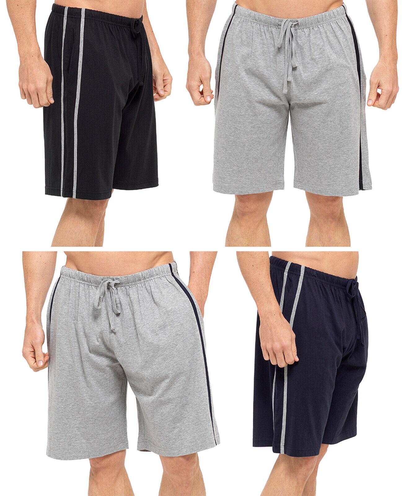 Pantalón Corto para Hombre Deporte Casual Lounge Desgaste a Rayas Chándal Bottoms Paquete de 2 tamaño de los chicos