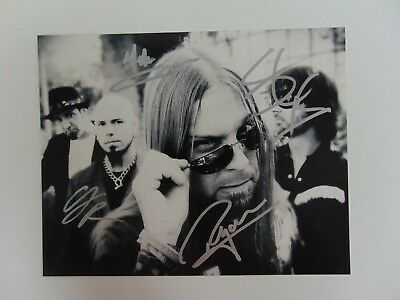"Entertainment Memorabilia Photographs ""resilience"" Drowning Pool Group Signed 10x8 B&w Photo Todd Mueller Coa 100% High Quality Materials"