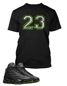 23-Graphic-T-shirt-To-match-Air-Jordan-13-High-Altitude-shoe-Men-039-s-Tee-Shirt