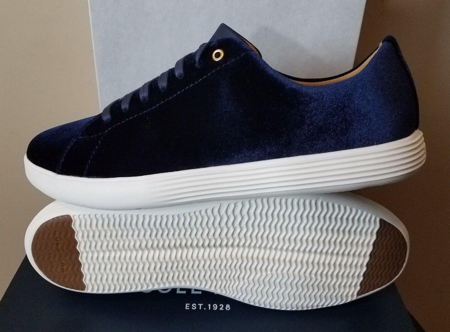 Damenschuhe Cole Haan Grand Crosscourt Sneakers II Schuhes Blau Velvet Sneakers Crosscourt NWT 5f6aee
