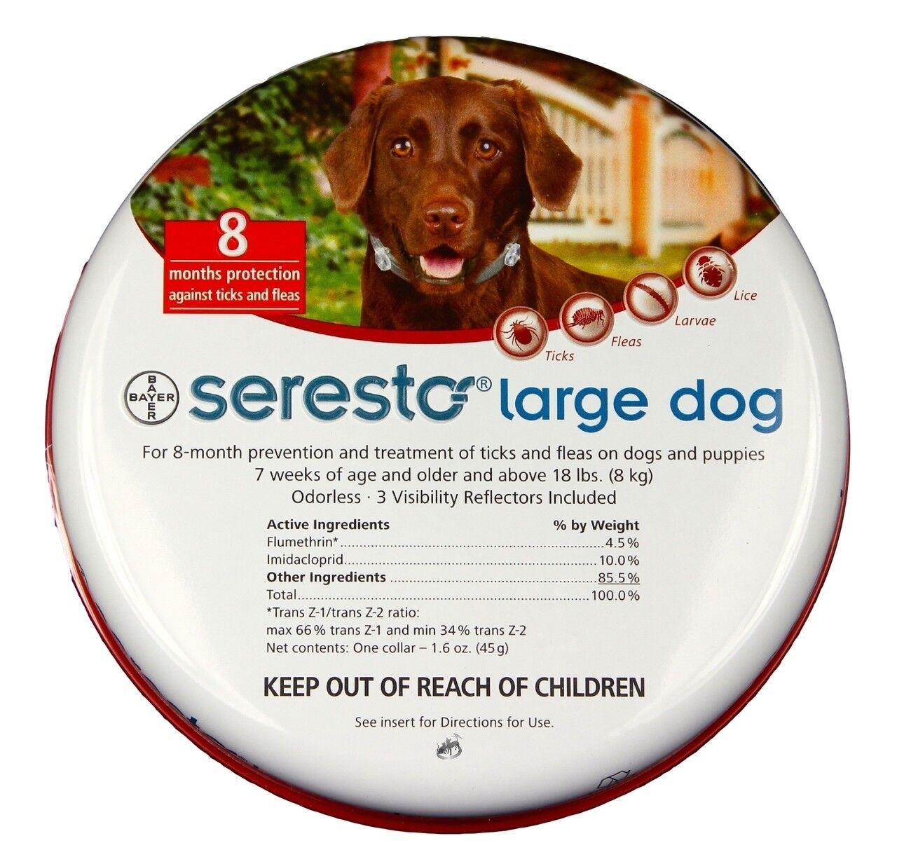 Seresto Antipulci & Collare di Graduazione per Cani Grossi (8.2kg