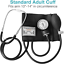 HealthSmart Manual Blood Pressure Monitor for Adult Upper Arm Standard Cuff Siz