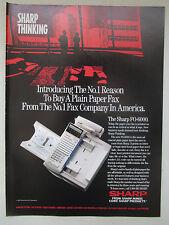 11/1991 PUB SHARP FO-6000 PLAIN PAPER LASER FAX ORIGINAL AD