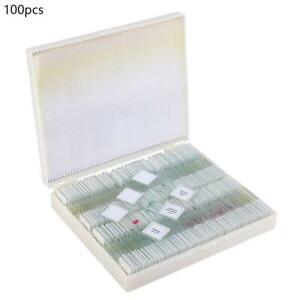 100-teilig-Dauerpraeparate-Vorbereitet-Mikroskop-Objekttraeger-Set-Tiere-Blumen