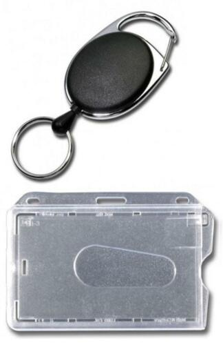 Kartenhalter CD1 JOJO mit DRAHTSEIL STAHLSEIL Metallumrandung /& Schlüsselring