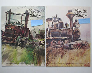 Two-Vintage-1970s-Copies-of-Palette-Talk-Magazine-by-Grumbacher-Art-for-Artists