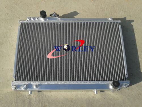 1986-1992 Toyota SUPRA 3.0 Turbo MK3 SOARER 7MGTE MT aluminum radiator /& FANS