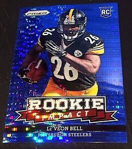official photos c95a2 b3983 Details about Le'VEON BELL 2013 Prizm ROOKIE IMPACT Blue PULSAR Walmart  Only SP #5 STEELERS