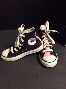 Details about Converse All Star Chuck Taylor Girls Shoes Black Pink Size 13 Youth
