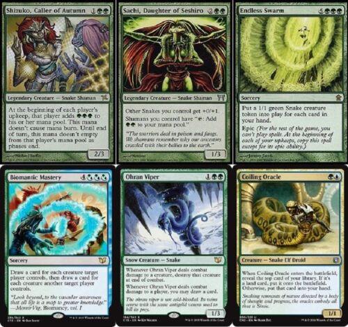 Magic Gathering Shizuko 60 Cards  MTG Deck Blue Green Slithering Snakes