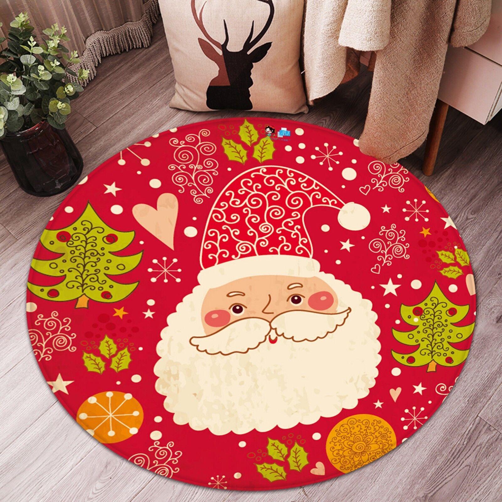 3d Natale Xmas 324 antiscivolo tappeto tappetino vano giri elegante TAPPETO de