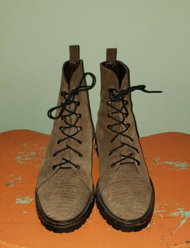 JOAN & DAVID BROWN LACE UP BOOTS WOMEN SIZE 37