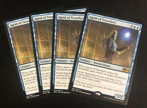 MTG-Agent-of-Treachery-NM-4X-Magic-the-Gathering-M20-blue-standard-pioneer-EDH