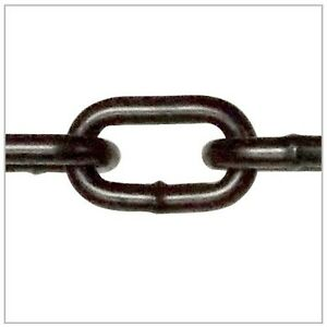 1 4 X 20 Grade 30 Black Proof Coil Powder Coated Safety Chain