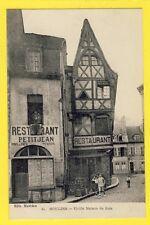 cpa FRANCE Auvergne 03 - MOULINS Vieille MAISON de BOIS restaurant PETITJEAN