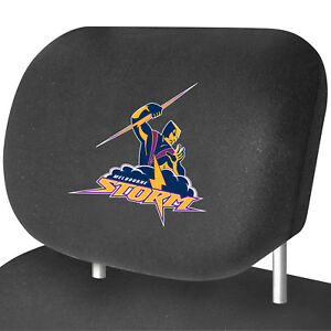 MELBOURNE STORM Official NRL Universal Headrest Cover Pairs