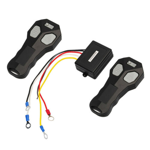 12V//24V Wireless 2 Remote Control Receiver Winch Kit For Car Bulldog Jeep ATV