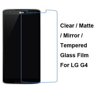 Tempered-Glass-Clear-Matte-Mirror-Front-Screen-Film-Protector-For-LG-G4