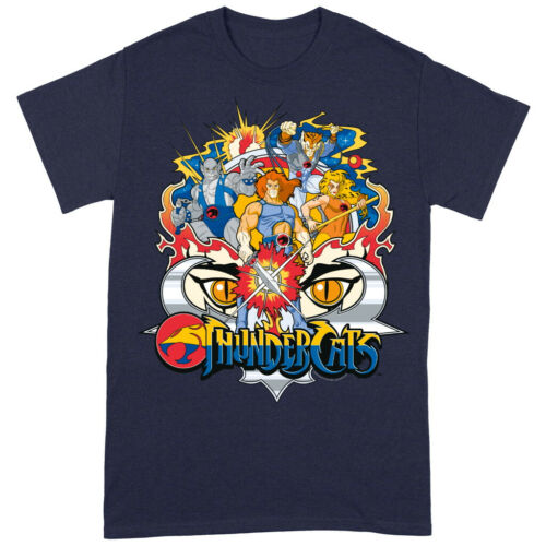 NEW /& OFFICIAL! T-Shirt Thundercats /'In Action Group Shot/' Navy