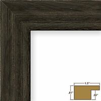 Craig Frames 1.5DRIFTWOODBK 20x20 Picture/Poster Frame, Wood Grain Finish, 1-1/2-Inch Wide, Distress... Home Furnishings