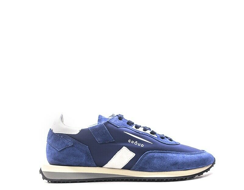 Zapatos ghoud hombre azul tela, serraje rslmnl 09