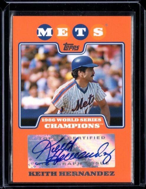 2008 Topps New York Mets 1986 World Series Champion Keith Hernandez Auto