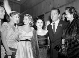 OLD-CBS-RADIO-TV-PHOTO-Party-For-Singer-Tony-Martin-with-Audrey-Meadows-2