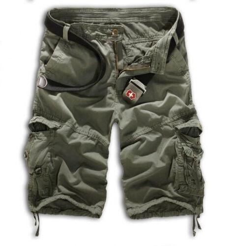Herren Army Militär Bermuda Shorts Combat Cargoshorts Kurzehose Freizeit Hosen