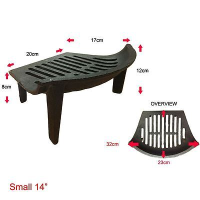 Cast Iron Fire Grate Small Black Log Coal Fireside Fireplace By Home Discount
