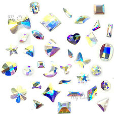 Swarovski Flatbacks No-Hotfix Rhinestones CRYSTAL AB (001 AB) Pick Your Shape