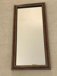 """VINTAGE HOMCO HOME INTERIORS RECTANGULAR MIRROR WITH GOLD TRIM FRAMED 22"""" x 11"""""""