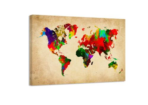 Weltkarten verschiedene Größen alle gerahmt Bild auf Leinwand Visario1518 D3