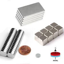 5 100pcs Blockround N52 Neodymium Magnets Super Strong Rare Earth Disc Hole Lot