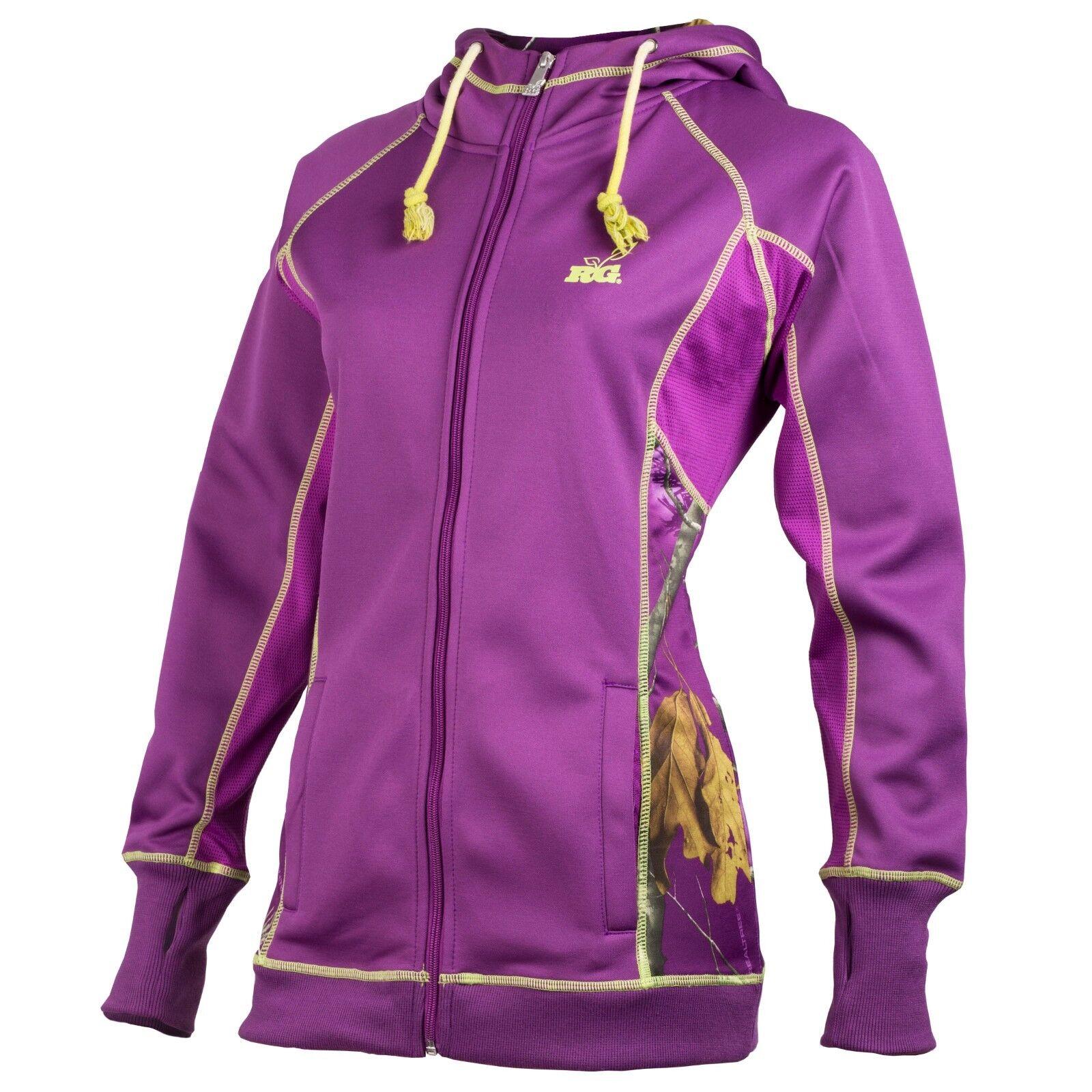 Realtree Girl RTG Women's Large Knox Hooded Sweatshirt Roman Purple RGI020016