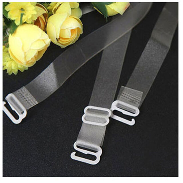 5 pair Clear Transparent Invisible Adjustable sexy Bra Shoulder hook Straps