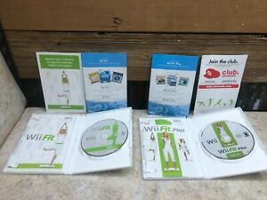 Wii Fit and Wii Fit Plus Nintendo Wii Lot of 2 Games COMPLETE BUNDLE TESTED #3C