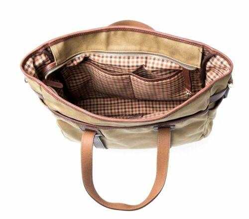 New KORCHMAR T9237 Shaw Tote Cotton Leather Trim Medium Bag $300