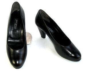 PAUL-VERDE-Zapatos-tacon-7-5-cm-en-piel-negro-4-37-EXCELENTE-ESTADO