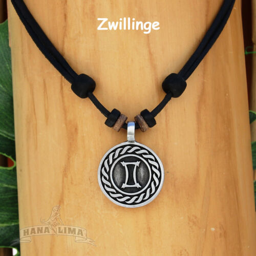 Necklace Surfer Necklace Leather Necklace Mens Jewellery Zodiac Sign Star Sign