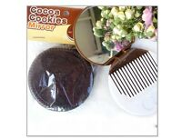 Style Compact Makeup Mirror Cookies Shape With Comb